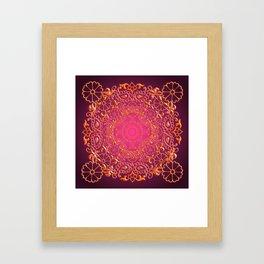 Sari Sunset Framed Art Print