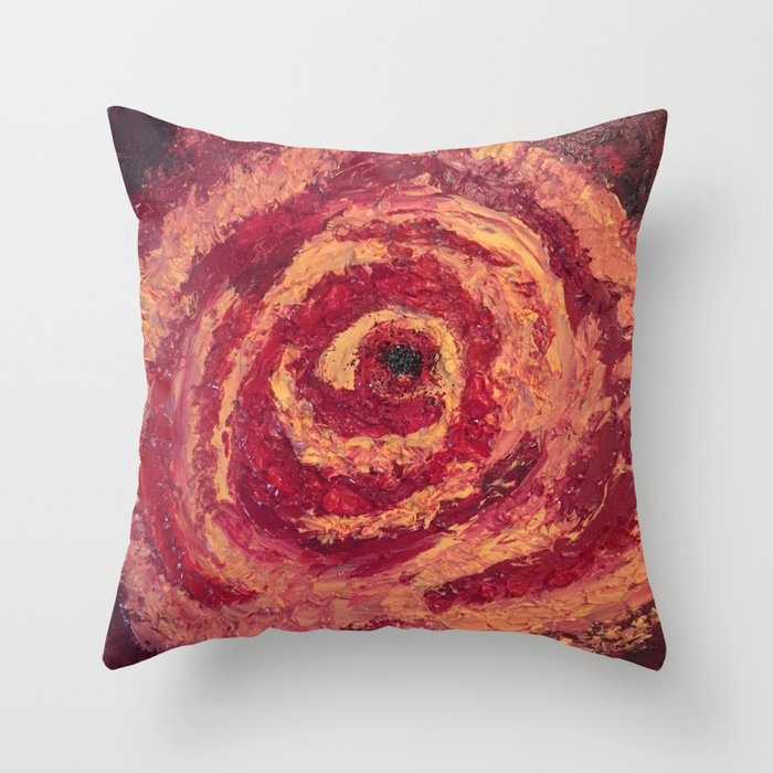 Blood Rose Throw Pillow