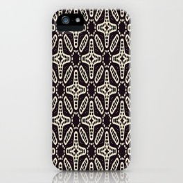 ETHNIC GEOMETRIC BLACK AND WHITE PATTERN iPhone Case