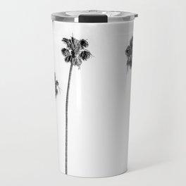 Black + White Palms Travel Mug