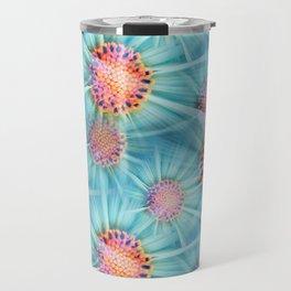 Cosmos Flower Pattern Travel Mug