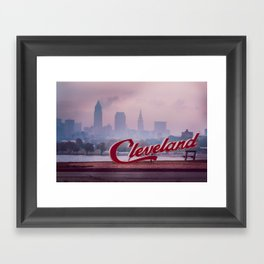 Homesick - Cleveland Skyline Framed Art Print