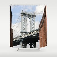 dumbo Shower Curtains featuring DUMBO by Christian Hernandez