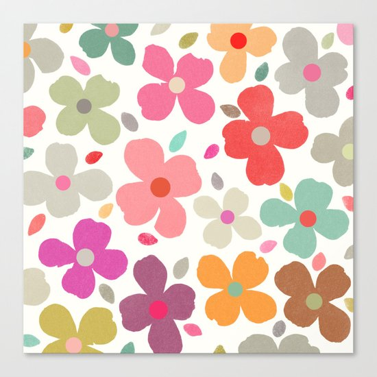 dogwood 2 sq Canvas Print