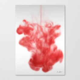Red ink drop Canvas Print