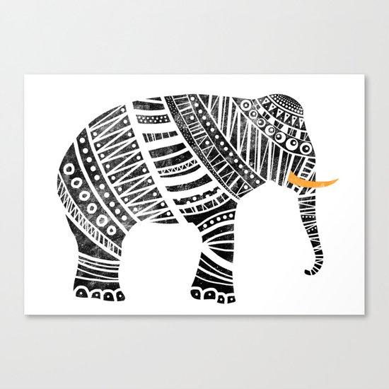 Endangered elephant Canvas Print