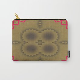 Pinkbrown(blue) Pattern 5 Carry-All Pouch