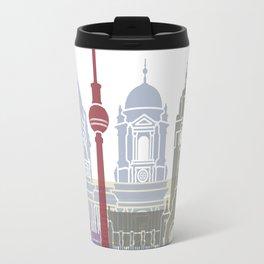 Berlin skyline poster Travel Mug