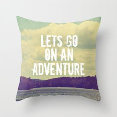Let's Go  Throw Pillow