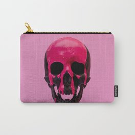 Pink Dripping Skull Carry-All Pouch