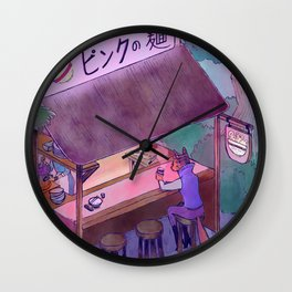 Pink Noodle Wall Clock