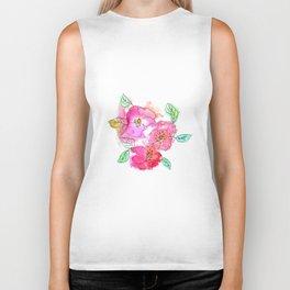 Pink Watercolor Flowers // Floral Feelings Biker Tank