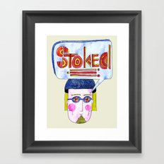STOKED!!! Framed Art Print