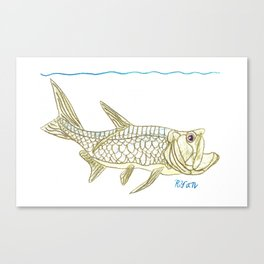 Key West Tarpon II Canvas Print