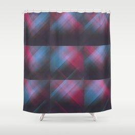 Laser Plaid Shower Curtain