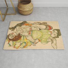 Female Lovers - Egon Schiele Rug