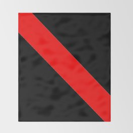 Oblique red and black Throw Blanket