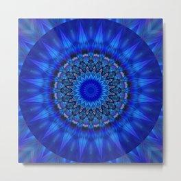 Mandala blue 1 Metal Print