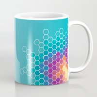 honeycomb Mugs featuring Honeycomb by AleyshaKate
