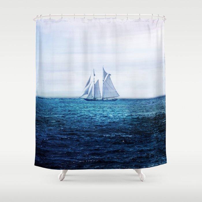 Sailing Ship on the Sea Shower Curtain