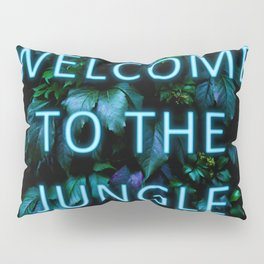 Welcome to the Jungle - Neon Typography Pillow Sham
