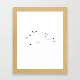 Bird Native birds songbird blackbird gift Framed Art Print