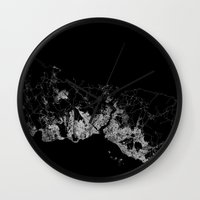 istanbul Wall Clocks featuring Istanbul  by Line Line Lines