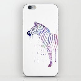 Watercolor Zebra Art iPhone Skin