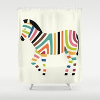 code Shower Curtains featuring Magic code by Andy Westface