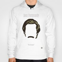 burgundy Hoodies featuring Ron Burgundy: Anchorman by BC Arts