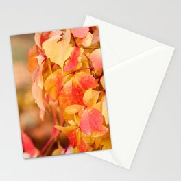 vine red yellow leaves abstract Stationery Cards