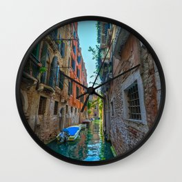 Venice canal Wall Clock