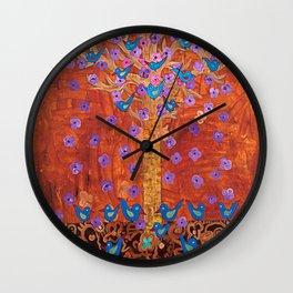 Rust Tree of Life by Gert Mathiesen Wall Clock