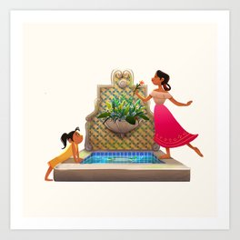 The Broken Fountain Art Print