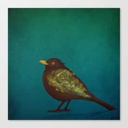 Camouflage: The Blackbird Canvas Print