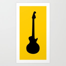 Simple Guitar Art Print