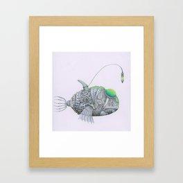 deep water' metal electric fish Framed Art Print