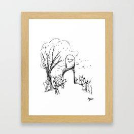 A Windy Day Framed Art Print