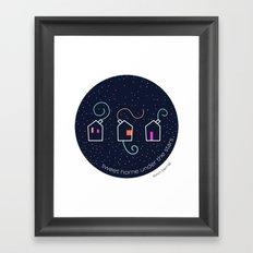 Sweet home under the stars Framed Art Print