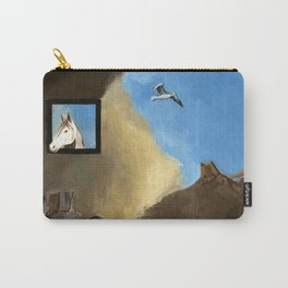 Horse and Child Children's book illustration Carry-All Pouch