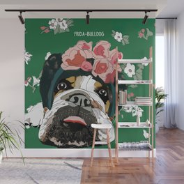 Frida-Bulldog Wall Mural
