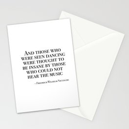 Those who were seen dancing Stationery Cards