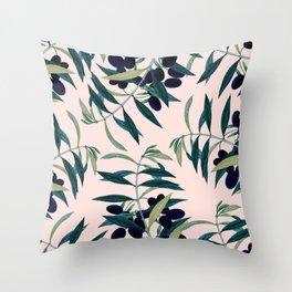 Olive Branch Pattern #society6 #decor #buyart Throw Pillow