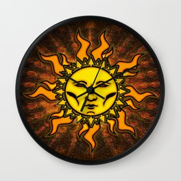 Light Sun #1 Psychedelic Character Icon Tapestry Wall Clock