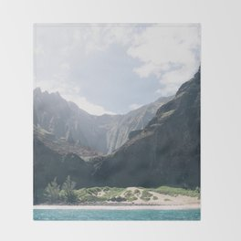 Na Pali Coast II Throw Blanket