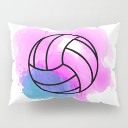 Volleyball Watercolor Pillow Sham