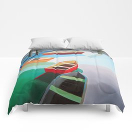 Five Boats Comforters