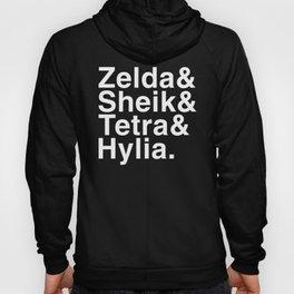 Zelda & Sheik & Tetra & Hylia helvetica list Hoody