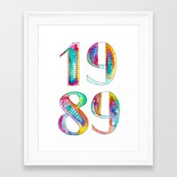 1989 Framed Art Prints featuring 1989 by Christina Guo