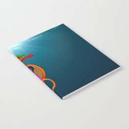 Psychadelic Seahorse Knot Notebook